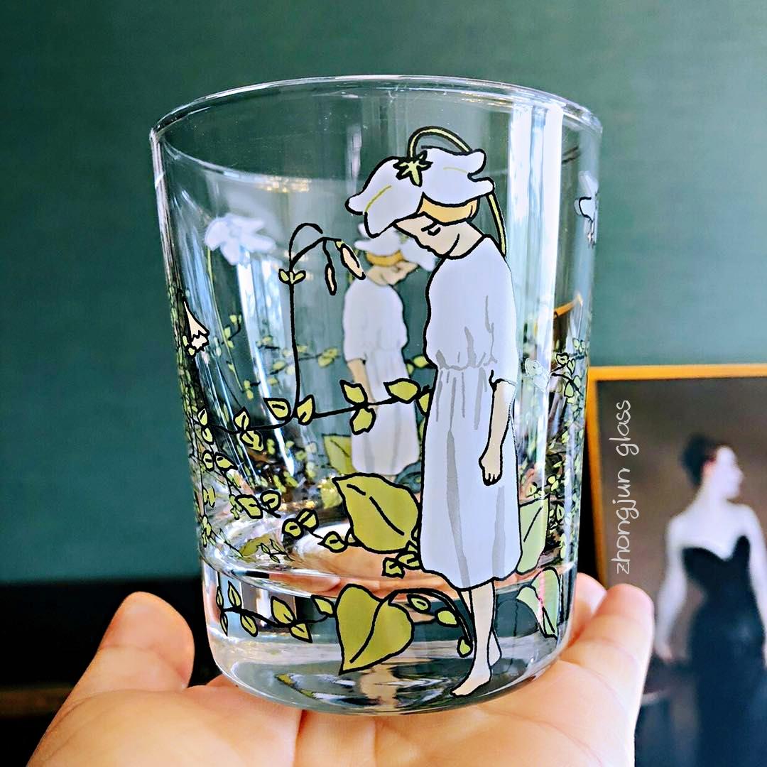 忠俊 豌豆公主童話系列印花水杯 蠟燭杯  小仙女杯