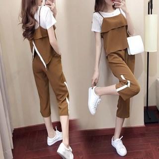 娇小矮个子女装150cm显高气质时尚搭配春夏季韩版三件套装女155xs