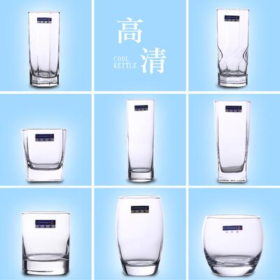 乐美雅玻璃杯耐热茶杯透明喝水杯子家用牛奶杯果汁杯饮料杯啤酒杯