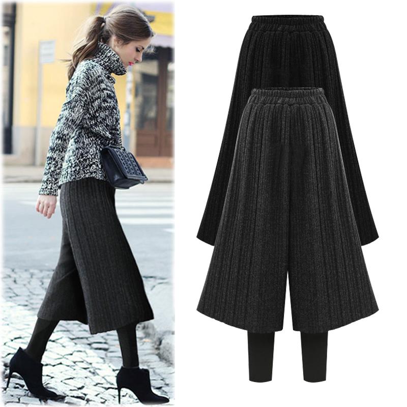 女冬裤裙加厚加绒