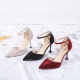 中跟夏天凉鞋子女2019潮鞋单鞋高跟鞋女夏季女鞋新款百搭细跟皮鞋