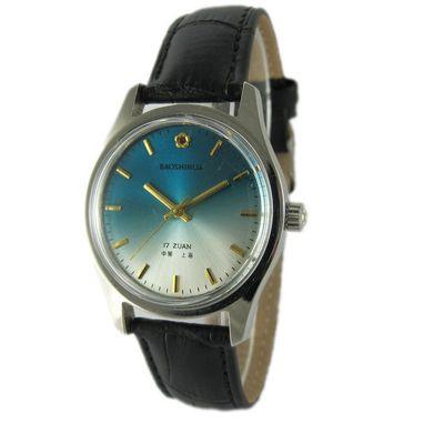 國產品牌手表寶石花牌手動機械手表原裝庫存老表復古懷舊男士腕表好不好