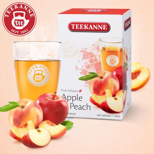 欧洲第一花草水果茶 Teekanne 苹果水蜜桃味水果茶 2.5g*20袋