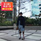 韩国长筒袜子女中筒袜格子潮小众时尚半里格半网红同款袜子小腿袜
