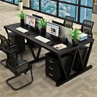 四人电脑桌组合