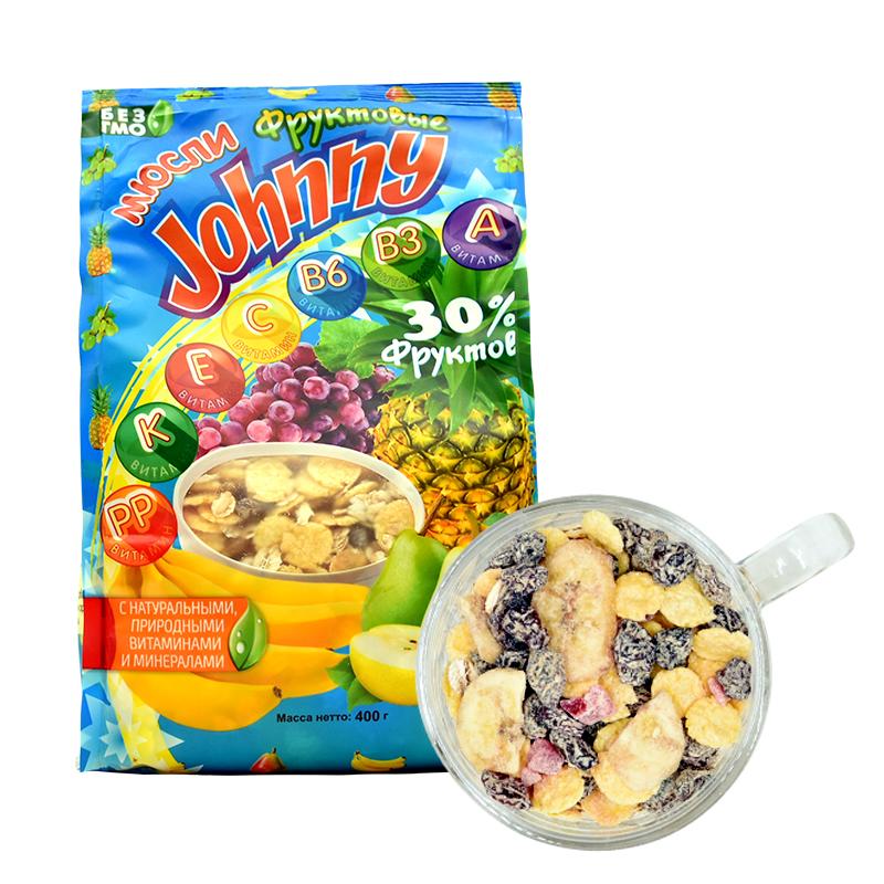 俄罗斯进口燕麦片 水果麦片 免煮即食谷物 儿童营养早餐代餐麦片