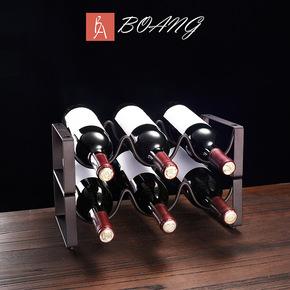 欧式创意红酒架摆件酒瓶架现代简约家用酒柜客厅家居摆设葡萄酒架