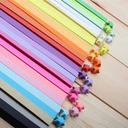 Solid color rainbow candy color stack of stars origami strips wishing stars paper bottle gift girlfriends lover diy creative