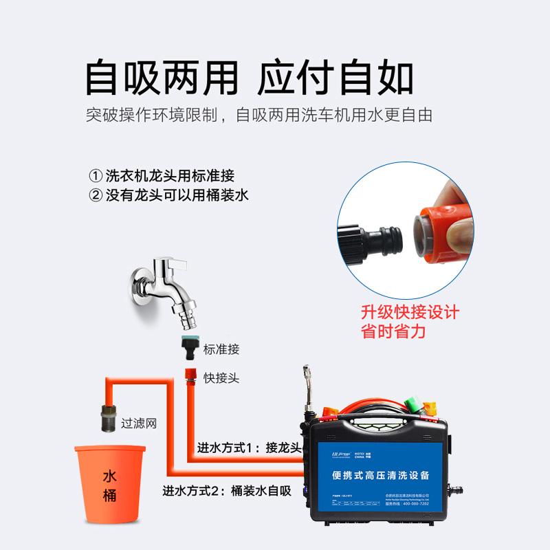 优丽洁高压清洗空调浇花喷农药洗车机家用自动抽水便携水枪清洗机