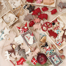 Nordic Christmas Decorations Double-sided Stereo Iron Sheet Hanging Christmas Tree Room Party Decorations Hanging Festival Decorations