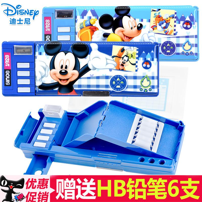 铅笔盒男孩小学生迪士尼儿童塑料男生多功能卡通文具盒男韩国创意