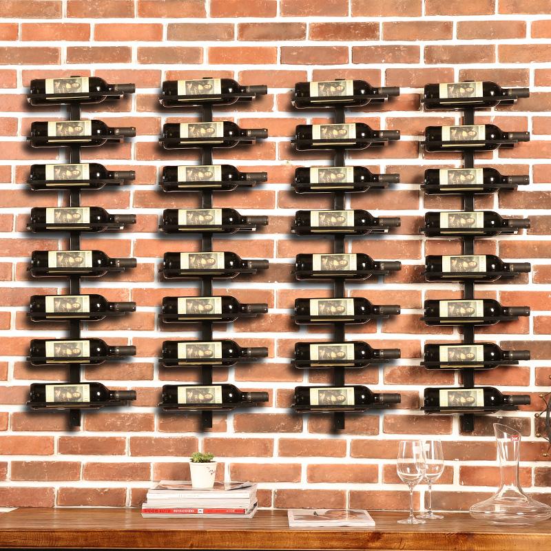 爱帮客酒吧铁艺墙上葡萄酒瓶架HB-052