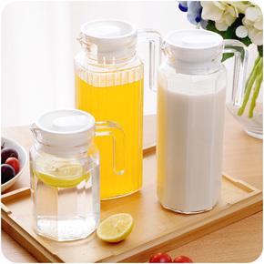 冷水壶夏季玻璃水子大号家用耐热耐高温防爆开水冷凉豆浆茶凉水杯