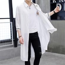 長款 過膝披風 帥氣薄款 防曬衣服中國風外套個性 夏季風衣男潮流韓版