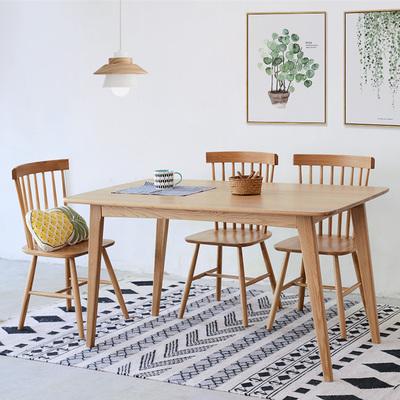 日式实木餐桌小户型