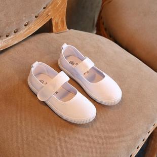 回力品牌疯抢 帆布鞋幼儿园舞蹈鞋小白鞋学生童鞋步鞋白球鞋儿童