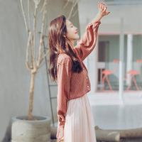 衬衣网纱两件套夏季2018新款裙子女装春装时髦套装时尚春季连衣裙