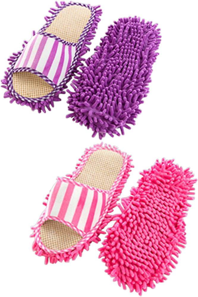 1 Pair of Women Ladies Ultrafine Chenille Cleaning Dusting M