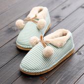 棉拖鞋包跟韩版冬季情侣男女防滑厚底居家室内可爱办公室月子鞋