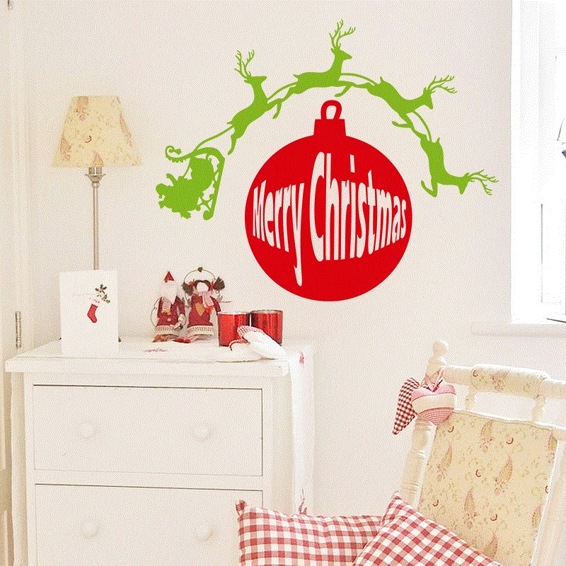 NEW Christmas Decoration Easy Instant Decoration Wall Sticke