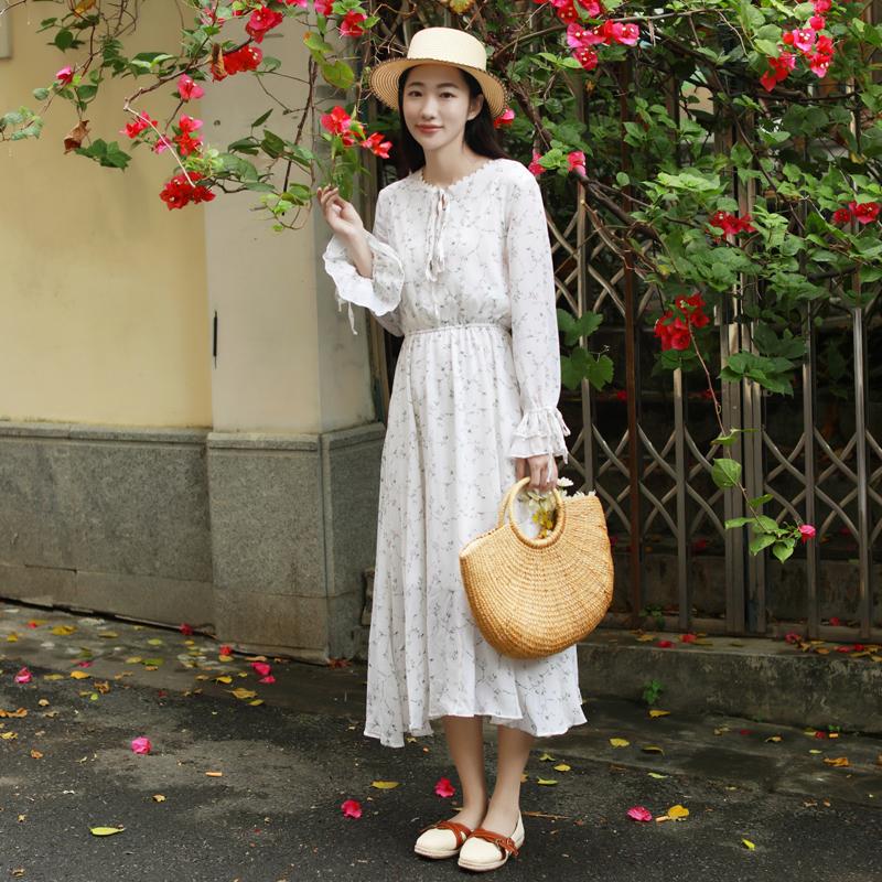 女装秋装连衣裙长袖长裙