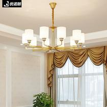 锌合金LED新款欧式高档客厅大气餐厅玉石水晶吊灯具蜡烛豪华别墅
