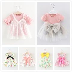 潮童装女童洋气裙子夏季儿童短袖连衣裙0-1-3岁女宝宝公主裙韩版2