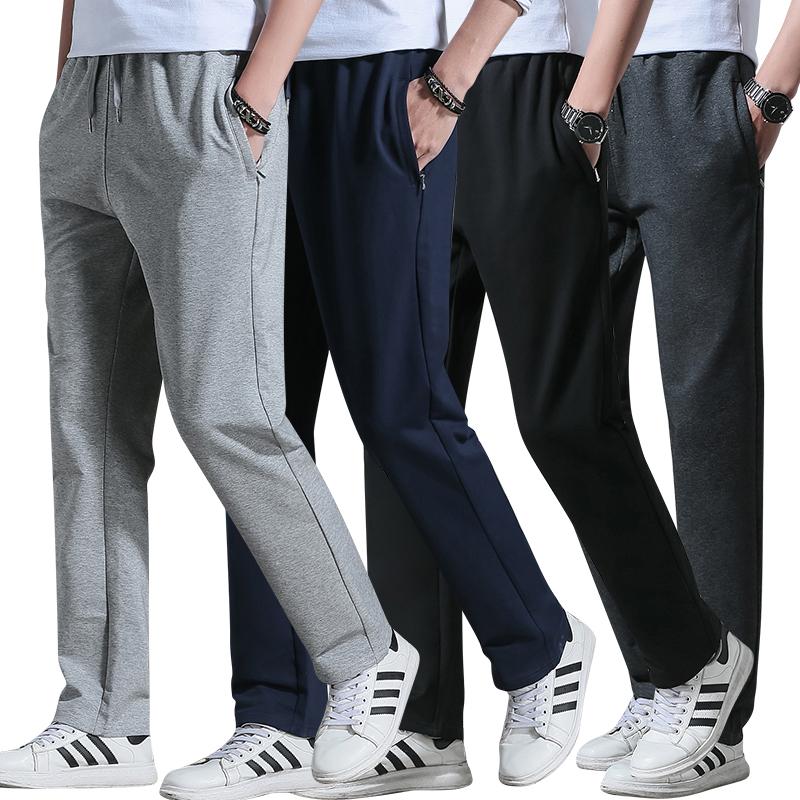 无口袋休闲裤
