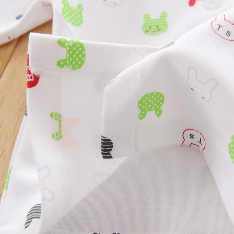 秋季开衫宝宝秋衣上衣女童男童纯棉婴儿长袖新生儿睡衣0-3-6个月