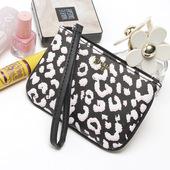 卡包 碰撞 迷你小钱包 两面零钱包 粉色条纹跟豹纹 维mi