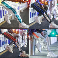 Ins pants male Korean version of the trend of the pants thickening sports pants men's tide brand autumn and winter plus cashmere feet casual pants