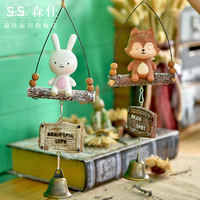 Creative Japanese style fresh air bell hanging door decoration cute girl bedroom room bell pendant birthday gift