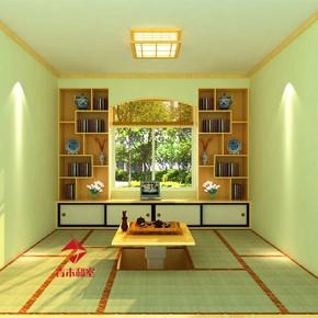 无锡日式榻榻米地台定制整体衣柜组合实木床定做卧室书房免费设计
