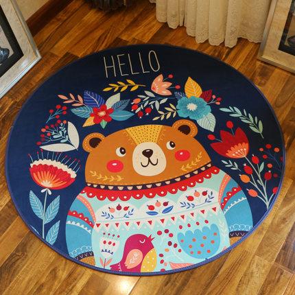 圆形地毯地垫
