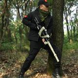 狼石冬季加绒加厚军装套装男士黑色工装制服安保特训服作训服正品