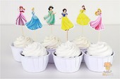 cupcake for decoration Princess 24pcs lot toppers picks kids