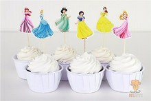 for kids toppers decoration picks 24pcs Princess lot cupcake