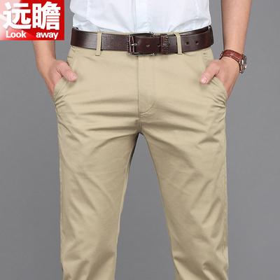 夏天薄款休闲裤男宽松弹力男裤青年夏季长裤男士新款直筒大码裤子