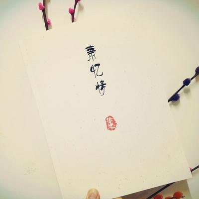 2册小清新 Alex萧忆情周边 古风歌词本 硬笔字帖瘦金体速成练字板