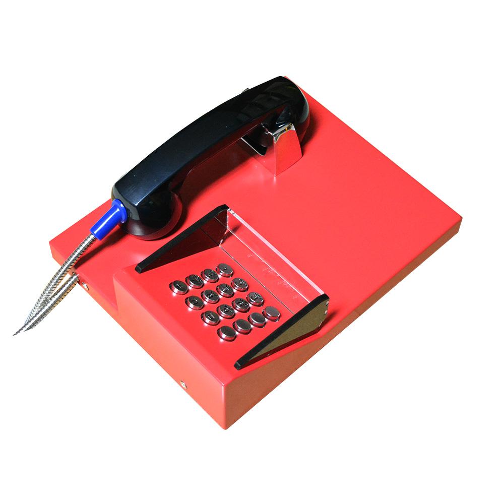 新款遮挡防偷窥银行电话机 壁挂式全金属自助拨号紧急求助对讲机