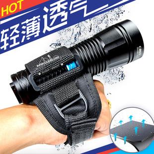 潜水手套手电筒手套GoPro支架MIKOZE手电筒U架手套潜水装 置手套