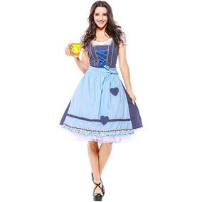 德国巴伐利亚啤酒节服装 慕尼黑民族文化狂欢服装 女仆cos演出服