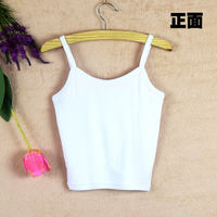 Summer cotton short paragraph navel high waist wild large size Slim parallel halter shirt female inside small vest tube top wrapped chest