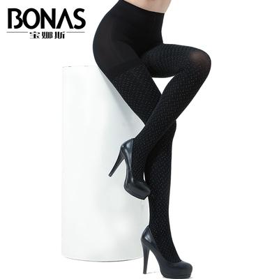 宝娜斯160D彩色可爱波点连裤袜防勾丝春夏款加档加大显瘦美腿丝袜