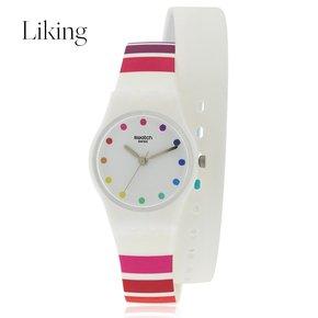 swatch 斯沃琪 女士COLORAO Silicone系列白色石英手表