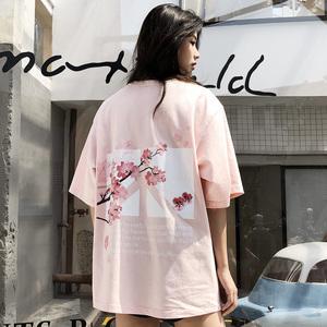 Freamve二代反战花卉圆领T恤宽松潮流男女情侣同款短袖VERAF-18SS