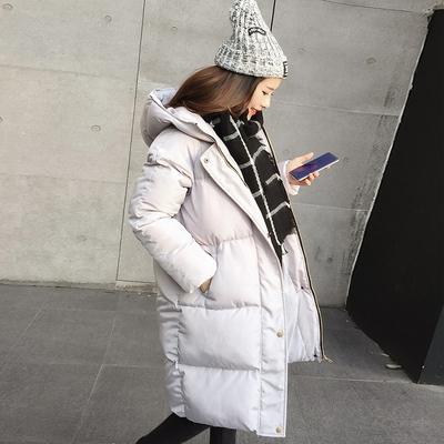 棉袄女2018新宽松反季羽绒棉服加厚外套冬天bf时尚中长款面包服女
