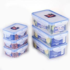 乐扣乐扣保鲜盒塑料微波炉饭盒长方形密封盒便携食品便当盒水果盒