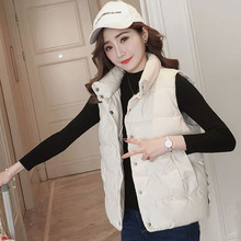 蔻 棉 cotton vest female winter short paragraph 2018 new Korean version of the loose student Harajuku vest outside wearing down cotton vest