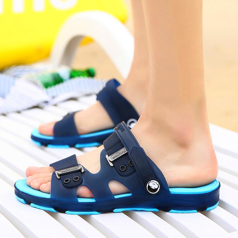 凉鞋男士拖鞋男夏季浴室内外沙滩鞋男洞洞鞋一字拖防滑学生凉拖鞋